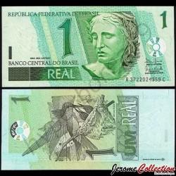 BRESIL - Billet de 1 Reai - Colibri - 2003