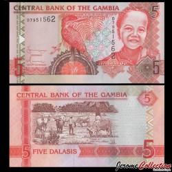 GAMBIE - Billet de 5 Dalasis - 2006