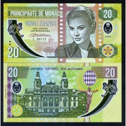 MONACO - Billet de 20 Francs - Princesse Grace Kelly - POLYMER - 2018