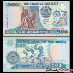 MOZAMBIQUE - Billet de 500 Meticais - Sculptures - 1991 P134a