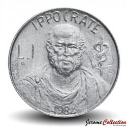 SAINT-MARIN - PIECE de 1 Lire - Hippocrate - 1984 Km#159