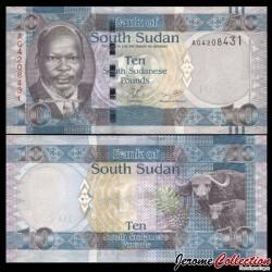 SUD SOUDAN - BILLET de 10 Livres Soudanaise - 2011 P7a