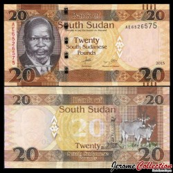 SUD SOUDAN - BILLET de 20 Livres Soudanaise - 2015 P13a