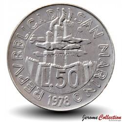 SAINT-MARIN - PIECE de 50 Lires - Devoirs à la maison - 1978
