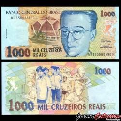 BRESIL - Billet de 1000 Cruzeiros Reais - Anísio Teixeira - 1993