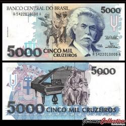 BRESIL - Billet de 5000 Cruzeiros - 1992