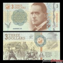 Ogygie - Billet de 3 Dollars - Rafael Sabatini - 2019 0003