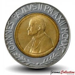 VATICAN - PIECE de 50 Lires - Jean Paul II - 1990
