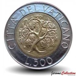 VATICAN - PIECE de 50 Lires - Jean Paul II / Arbre - 1989