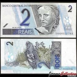 BRESIL - Billet de 2 Reais - Tortue de Mer - 2009 P249h