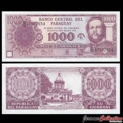 PARAGUAY - Billet de 1000 Guaranies - 50e anniversaire de la Banque centrale du Paraguay - 2002