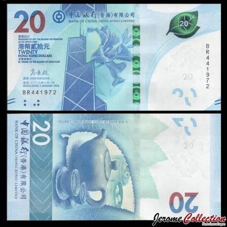 HONG KONG - Bank Of China (Hong Kong) Ltd - Billet de 20 DOLLARS - 2018