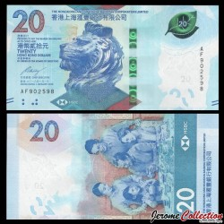 HONG KONG - HSBC - Billet de 20 DOLLARS - 2018