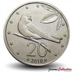 ILES COOK - PIECE de 20 CENTS - Oiseau - 2010