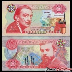 CATALUNYA / CATALOGNE - Billet de 5000 Pesetas - Dali - 2016