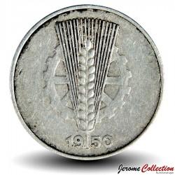 ALLEMAGNE DE L'EST / DDR / RDA - PIECE de 5 pfennig - 1950