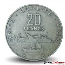 DJIBOUTI - PIECE de 20 FRANCS - Vue du port de Djibouti - 1996 Km#24