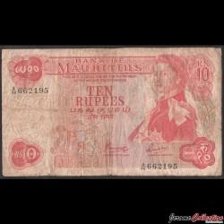 MAURICE (ile) - Billet de 10 Roupies - Elizabeth II - 1967 P31c