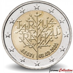 ESTONIE - PIECE de 2 Euro - Traité de paix de Tartu - 2020