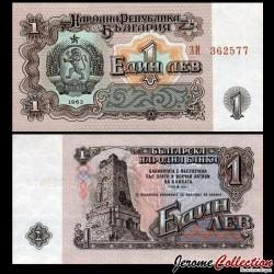 BULGARIE - Billet de 1 Lev - Mémorial de Chipka - 1962