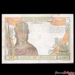 INDOCHINE FRANCAISE - Billet de 5 Piastres - 1949