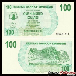 ZIMBABWE - Billet de 100 Dollars - Bearer cheque - 01.08.2006