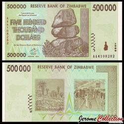 ZIMBABWE - Billet de 500000 DOLLARS - 2008