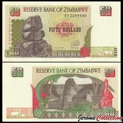ZIMBABWE - Billet de 50 DOLLARS - 1994