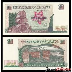 ZIMBABWE - Billet de 10 DOLLARS - 1997