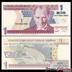 TURQUIE - Billet de 1 Nouvelle Livre Turque - 2005