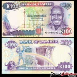 ZAMBIE - Billet de 100 Kwacha - Président Kenneth Kaunda - 1991 P34a