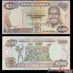 ZAMBIE - Billet de 50 Kwacha - Président Kenneth Kaunda - 1991 P35a