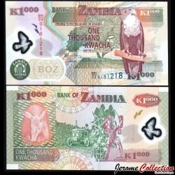 ZAMBIE - Billet de 20000 Kwacha - Antilope noire de Lechwe - 2011