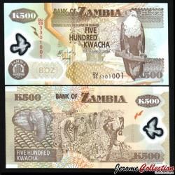 ZAMBIE - Billet de 500 Kwacha - Polymer - 2011 P43h