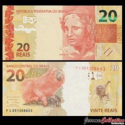 BRESIL - Billet de 20 Reais - 2010
