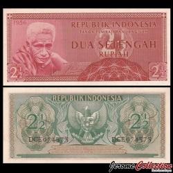 INDONESIE - Billet de 2½ Rupiah - Volontaire - 1956