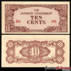 Birmanie (Gouvernement Japonais) - Billet de 10 Cents - 1942 P11a