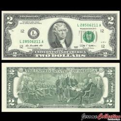 ETATS UNIS / USA - Billet de 2 DOLLARS - 2009 - L(12) San Francisco P530Al