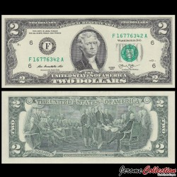 ETATS UNIS / USA - Billet de 2 DOLLARS - 2013 - F(6) Atlanta P538 - Fw
