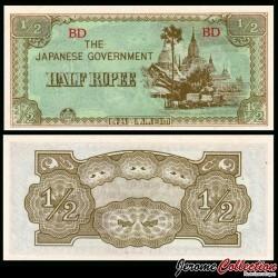 Birmanie (Gouvernement Japonais) - Billet de ½ Rupee - 1942
