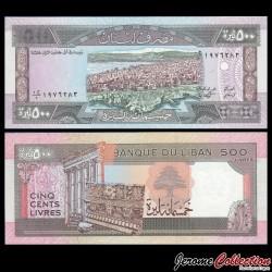 LIBAN - Billet de 500 Livres - Beyrouth - 1988 P68a