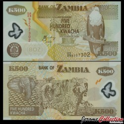 ZAMBIE - Billet de 500 Kwacha - Polymer - 2008 P43f