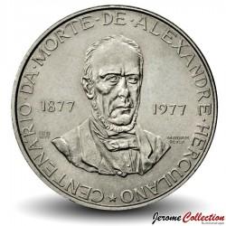 PORTUGAL - PIECE de 2,5 Escudos - Alexandre Herculano - 1977
