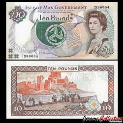 MAN (île de) - Billet de 10 Pounds - Château de Peel - 2007 P46a