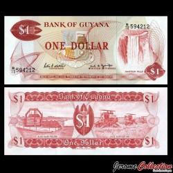 GUYANA - Billet de 1 DOLLAR - Chutes de Kaieteur - 1989 P21f