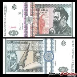 ROUMANIE - Billet de 500 Lei - Constantin Brâncuși - 1992 P101b