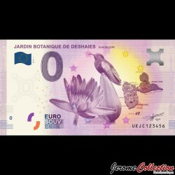 BILLET TOURISTIQUE - ZERO 0 EURO - FRANCE - Guadeloupe - Jardin botanique de Deshaies - 2016 UEJC - 2016-1