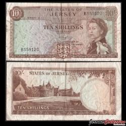 JERSEY - Billet de 10 Pound - Manoir de Saint-Ouen - 1967 P7a