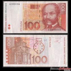 CROATIE - BILLET de 100 Kuna - Ivan Mazuranić - 2012 P41b