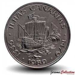 PORTUGAL - PIECE de 100 Escudos - Découverte des îles Canaries - 1989